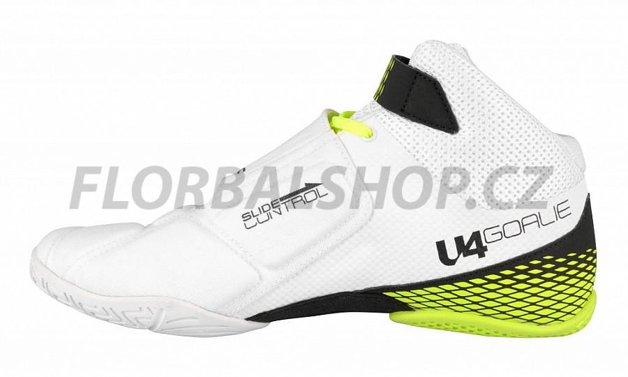 Unihoc U4 Goalie white neon yellow brankářská obuv  72a2b7c636