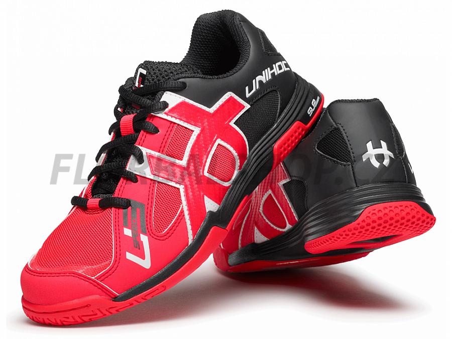 Unihoc U3 Speed Lady neon red black florbalová obuv  487ebfdec50