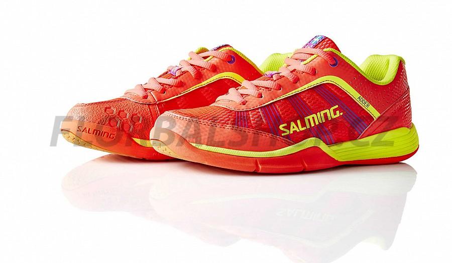 dd147b5afd3 Salming Adder Women Diva Pink Safety Yellow sálová obuv