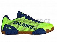 SALMING Hawk Men Shoe FluoGreen/LimogesBlue sálová obuv 18/19