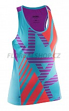 Salming Run Race Singlet Women Turquoise/Cactus Flower